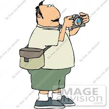 Middle Aged Caucasian grapher Man Taking Clipart by DJArt