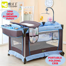 Multi functional Folding Baby Bed Portable Baby Crib Game Bed