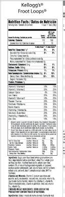 Froot Loops Nutrition Label 4 Oz A Facts Button Fruit Fiber