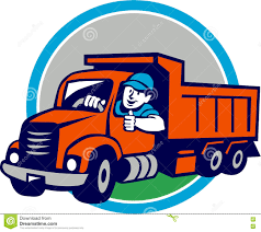100 Dump Truck Drivers Driver Thumbs Up Circle Cartoon Stock Vector