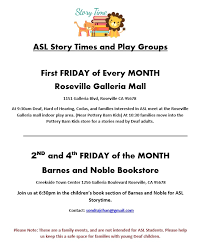 ASL Storytime and Play Group