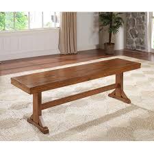 Amazon WE Furniture Solid Wood Dark Oak Dining Bench Kitchen
