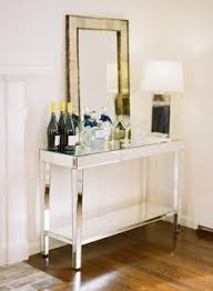 target mirrored console table entry table and a bar styling