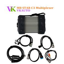 100 Free Cars And Trucks Best Price MB STAR C3 Multiplexer With 5 Cables For And