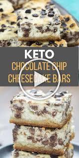 keto chocolate chip cheesecake bars it starts with