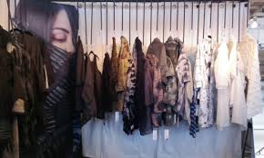 Display Of Artist Made Clothing By Amy Nguyen Uses A Custom Designed