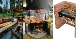 modele de barbecue exterieur 12 modèles de foyer et grill extérieur à construire soi même