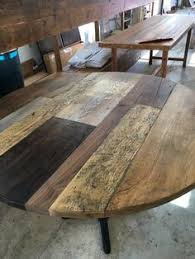 Reclaimed Wood Round Dining Table By FreshRestorations