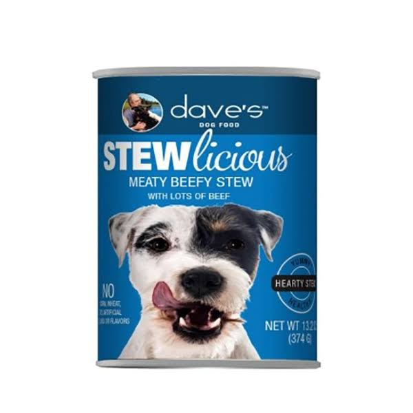 Dave's Pet Food Stewlicious Canned Meaty Beef Stew Dog Food 13.2 oz