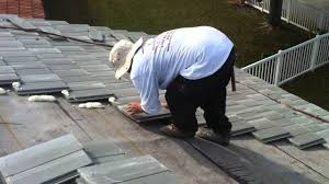new roofing flat roof tile foam installation