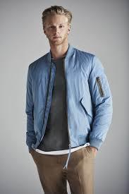 men u0027s light blue bomber jacket charcoal long sleeve t shirt