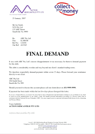template Payment Demand Letter Template