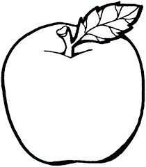 Fruit Coloring Pages Watermelon Apple For Kids Pictures Print Esl Full Size