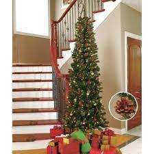 Downswept Pencil Christmas Tree by Blue Mesh Decorated Christmas Tree Here Is A 6ft Pencil Tree