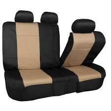 BESTFH: Neoprene 3 Row Car Seat Covers For SUV VAN TRUCK Beige 7 ...