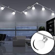 design led deckenleuchte für den wohnraum mit glas spots