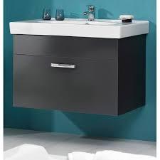 badezimmer set 2 teilig in anthrazit glanz mainz