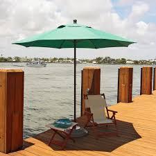 Solar Lighted Rectangular Patio Umbrella by Most Wind Resistant Patio Umbrella Home Outdoor Decoration