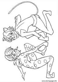 Miraculous Ladybug And Cat Noir Kiss Season 1 Coloring Pages Printable Book To Print For Free Find More Online Kids