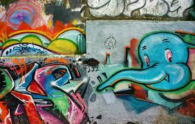 Download Beautiful Colorful Graffiti Art Vietnam Street Editorial Photo