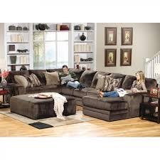 1 of 5 Furniture America San Roque Livingroom Set In Crosshatch Brown · Conns Donovan Sectional