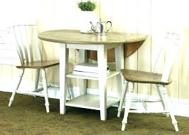 Kitchen Table Set Chairs 2 Chair Drop Leaf Round Dining