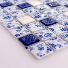 blue and white porcelain tile kitchen backsplashes glazed ceramic