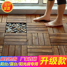 Anti Corrosion Wood Flooring Outdoor Terrace Garden Wooden Floor Mosaic Courtyard Laying Board