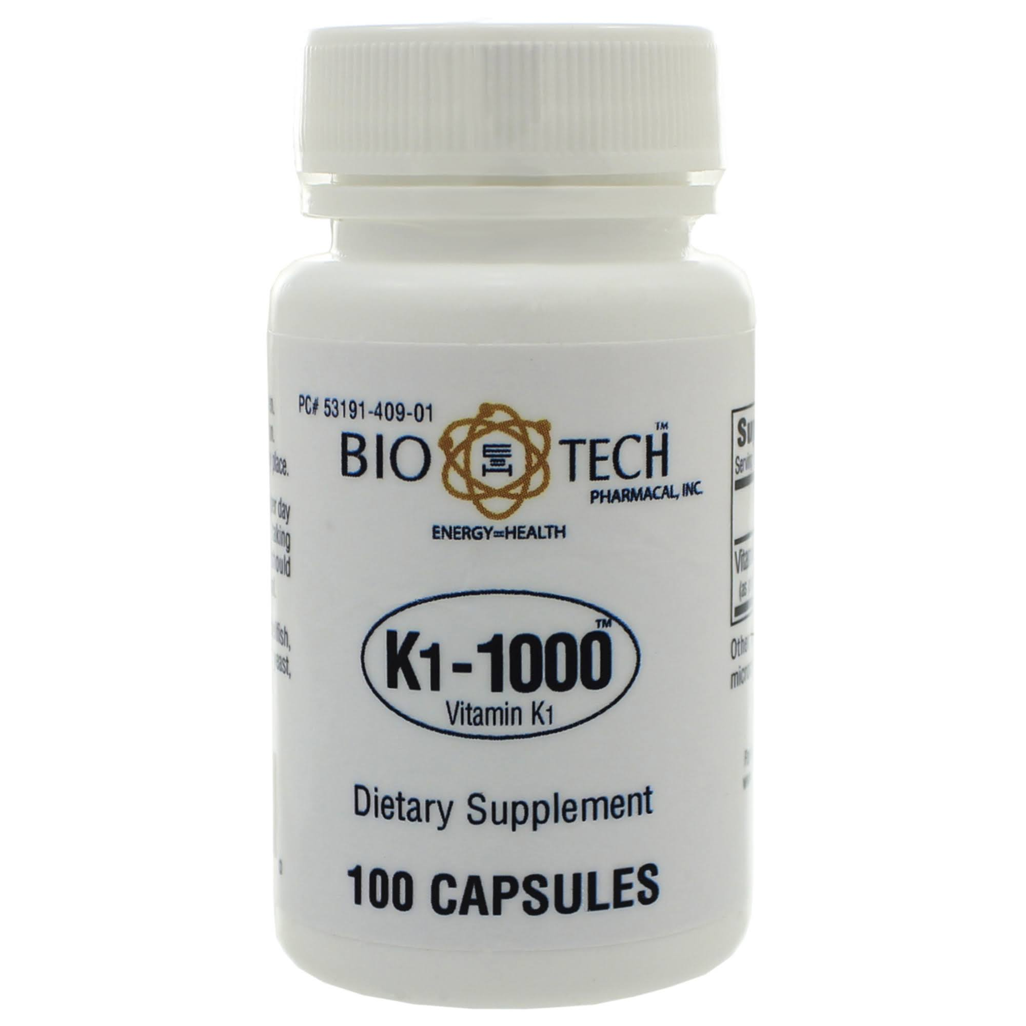 Bio Tech Pharmacal K11000 Supplement - 100 Capsules