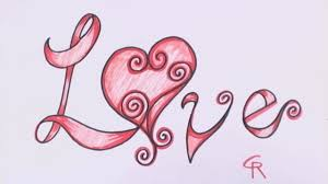 How To Draw Love In Fancy Letters