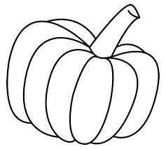 Pumpkin Clip Art Black White Free Clipart