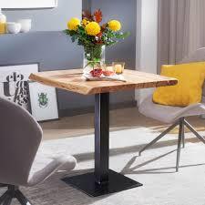esstisch baumkante 80 x 75 x 75 cm akazie massivholz esszimmertisch kleiner holztisch esszimmer designer küchentisch quadratisch