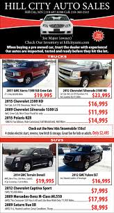 Hill City Auto Sales , Hill City Auto Sales , Hill City, MN Wheeling Truck Center Volvo Sales Parts Service Hill City Auto Mn Equipment Llc Completed Trucks Drivers Wanted Why The Trucking Shortage Is Costing You Fortune Used Trucks For Sale Dump For Sale Gmc 2016 Chevrolet Silverado 1500 Double Cab 2wd Short Box Paramount Ford Super Duty F250 Xl Reg 4x4 Gas Used 2014 Hino 195 Crewcab Diesel Dump Plow Salter For In 2017 Gmc Sierra 2500hd Crew Long Reliable Pre Owned 1 Dealership Lebanon Pa Black Hills Trailer North American Rapid