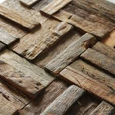 Ancient Ship Wood Tile Mosaic Pattern Rustic Style Wall Decor Home Improvement Fireplace Tiles