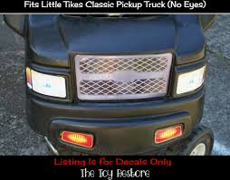 100 Little Tikes Classic Pickup Truck Replacement Grill Decal Cozy Fix