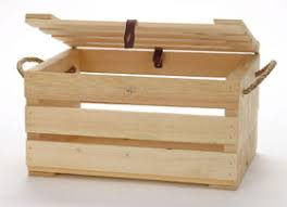Small Crate With Lid And Rope Handle