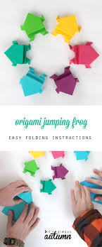Nice Photo Instructions Show How To Hold An Origami Jumping Frog Looks Easy Enough For