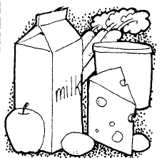 chesse and milk black and white food clipart