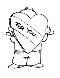 Boy Covering His Face With Love I Miss You Coloring Pages