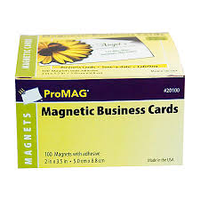 ProMAG Magnetic Business Cards 2 x 3 12 Pack 100 by fice