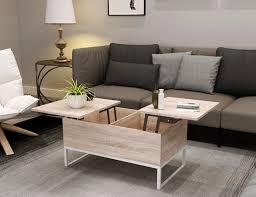 couchtisch klappfunktion wohnzimmer tisch holz sofa truhe
