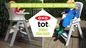 oxo tot sprout easy baby high chair to child s chair