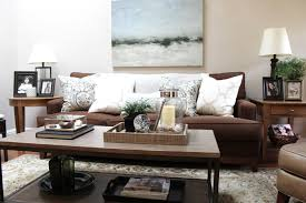 Brown Couch Living Room Ideas by Brown Couch Blues Mini Makeover Before And After Classic Casual