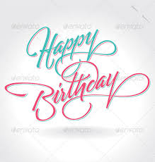 Happy Birthday Hand Lettering vector by letterstock