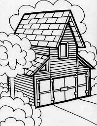 Big Barn House In Houses Coloring Page