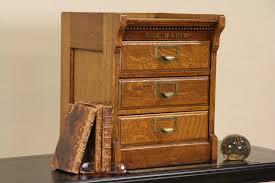 SOLD Macey The Rapid Desktop Antique 1900 Oak File Cabinet