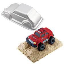 100 Monster Truck Cake Pan 3D Cruiser Baking Fondant Decorating Tools Aluminum Alloy