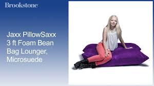 Jaxx PillowSaxx 3 Ft Foam Bean Bag Lounger, Microsuede