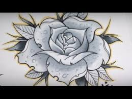 HOW TO DRAW A ROSE TATTOO Speed Drawing