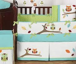 Hooty the Owl Crib Bedding Set by Sweet Jojo Designs 9 piece